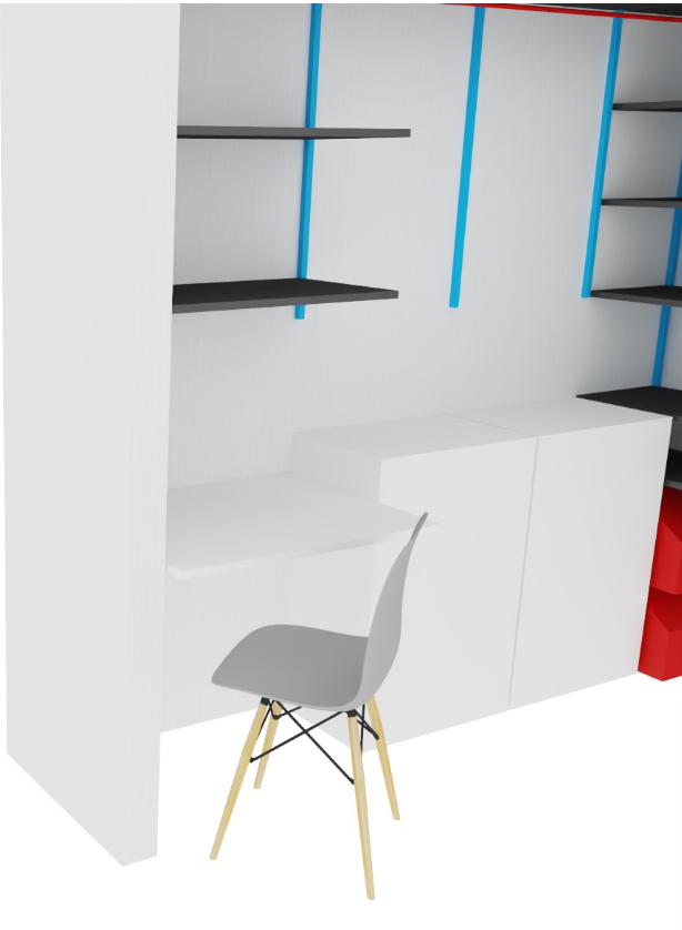 Krzesło skandynawskie w biurze