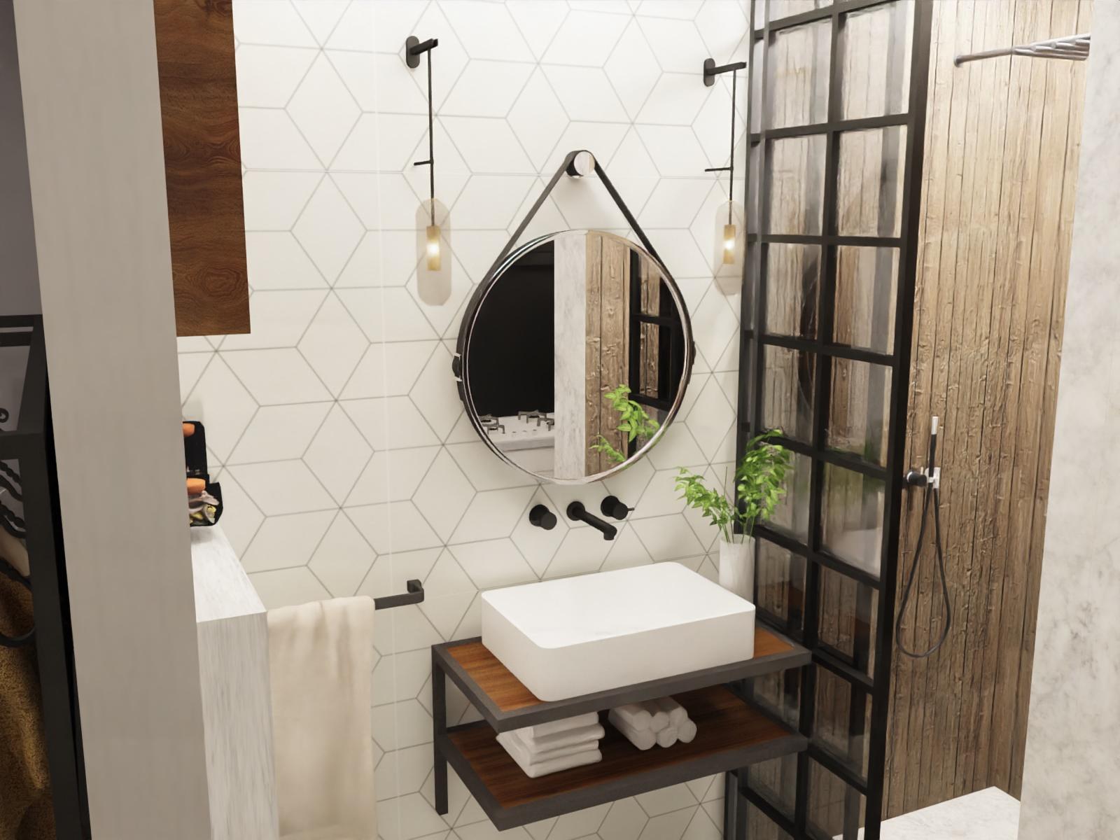 Loft łazienka