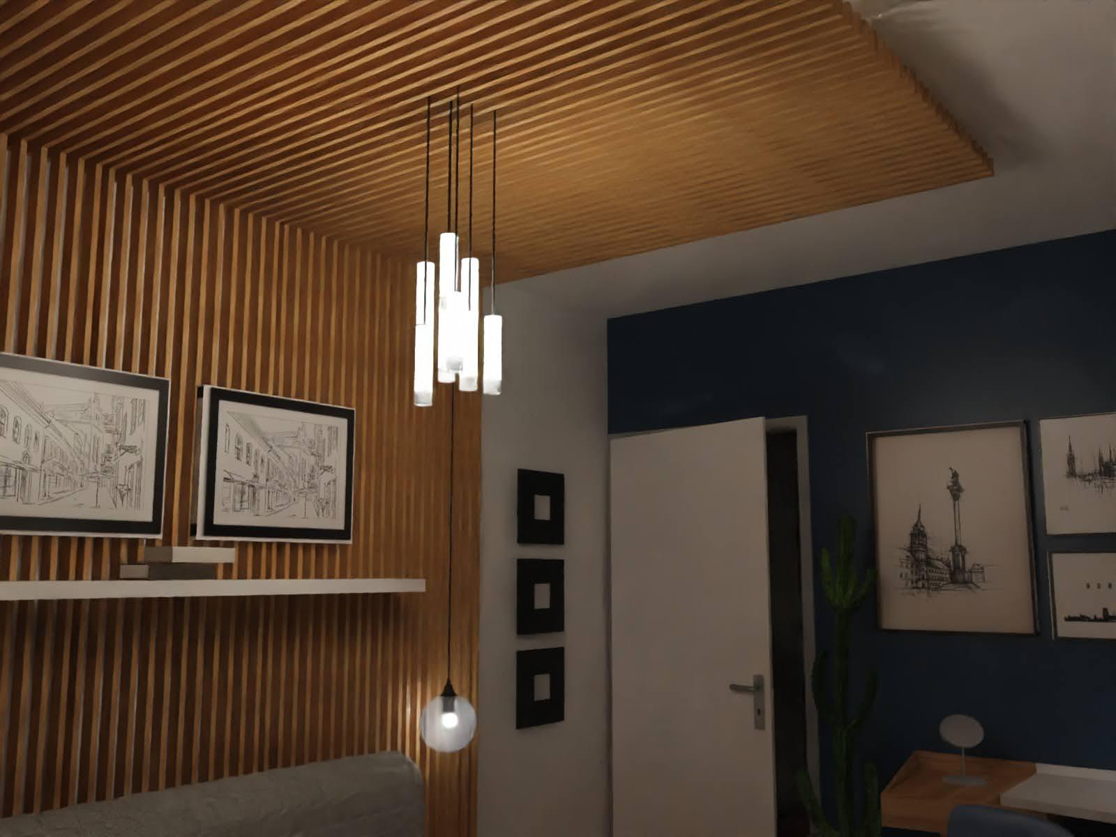 klimatyczne drewno w sypialni