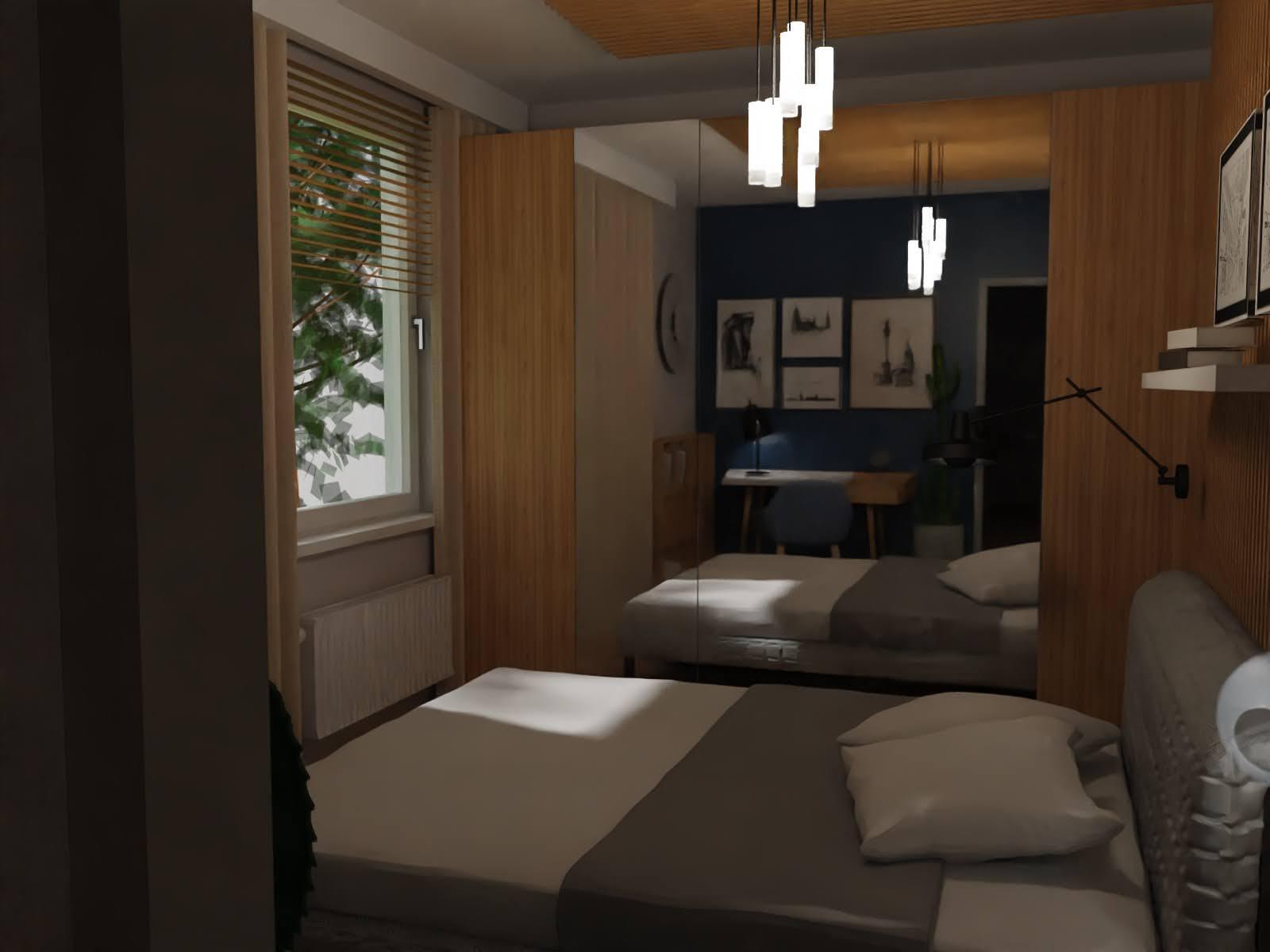 lutrzana szafa w sypialni