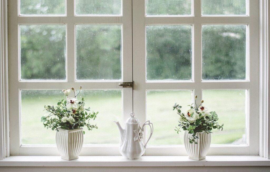 white, window, glass