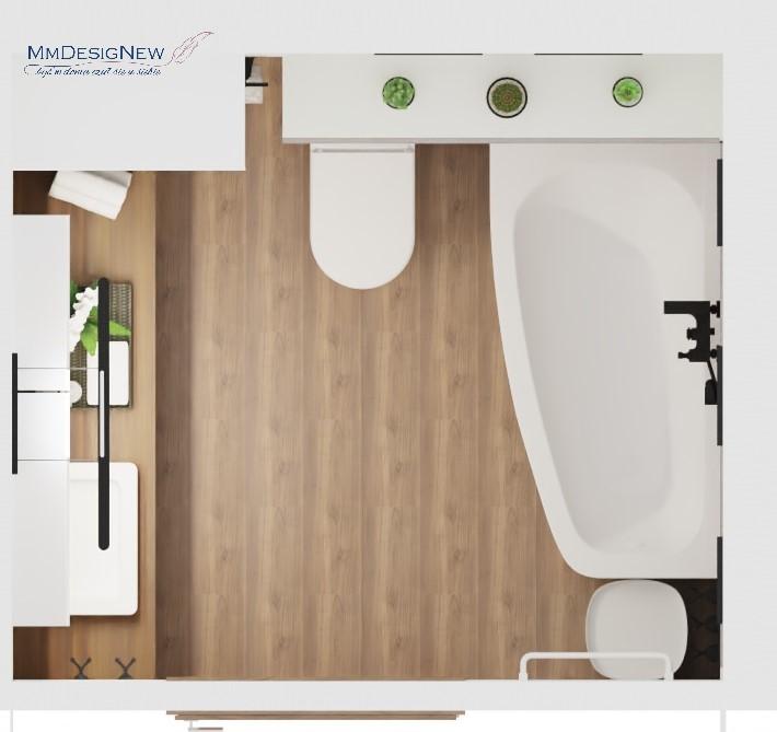 Rzut łazienki