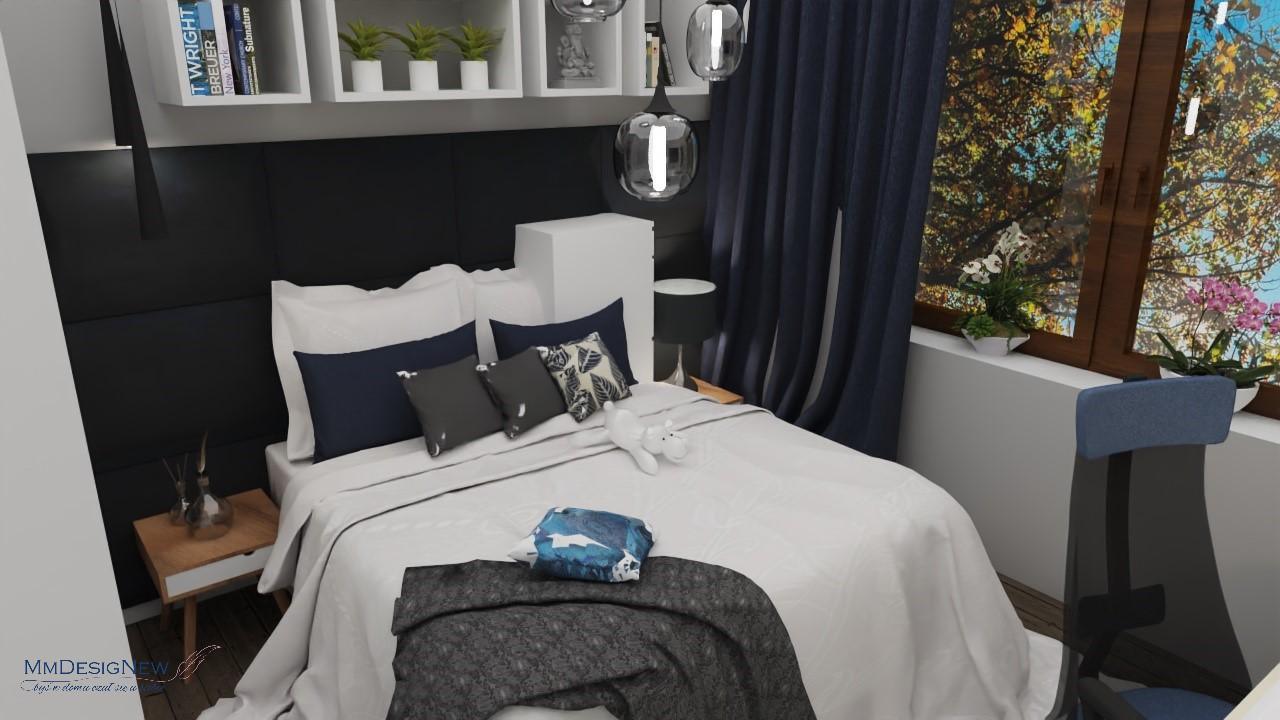 Granat w sypialni