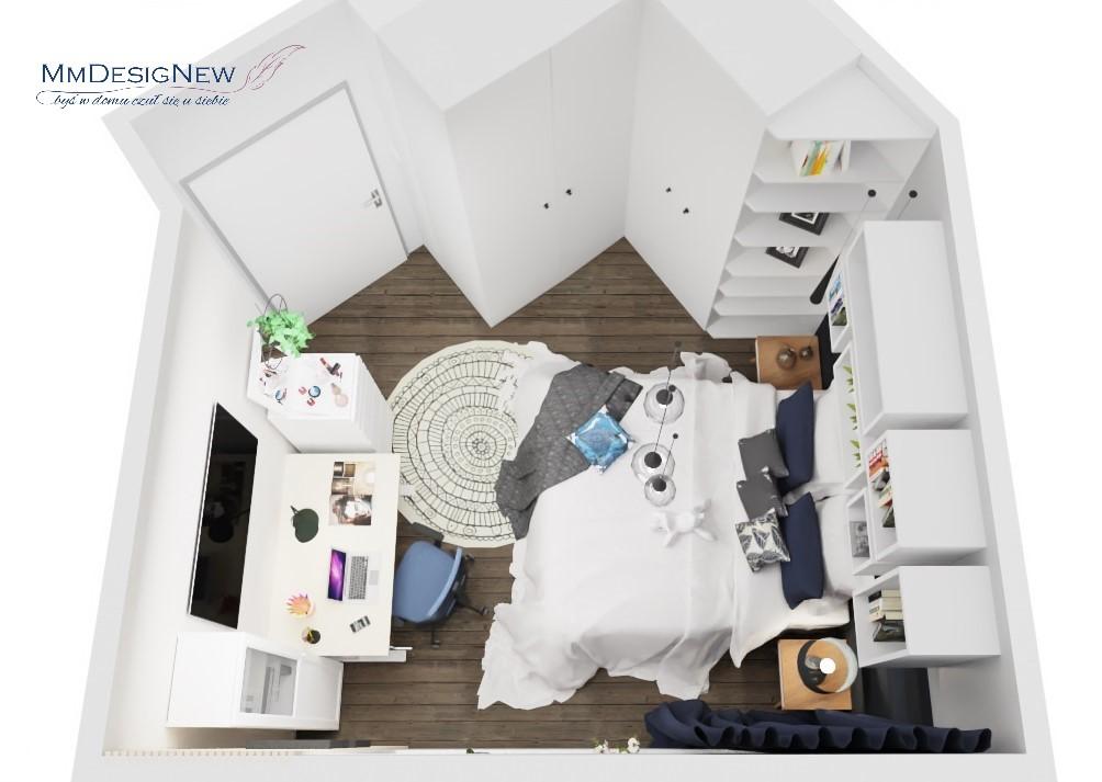 Sypialnia o nieregularnym kształcie