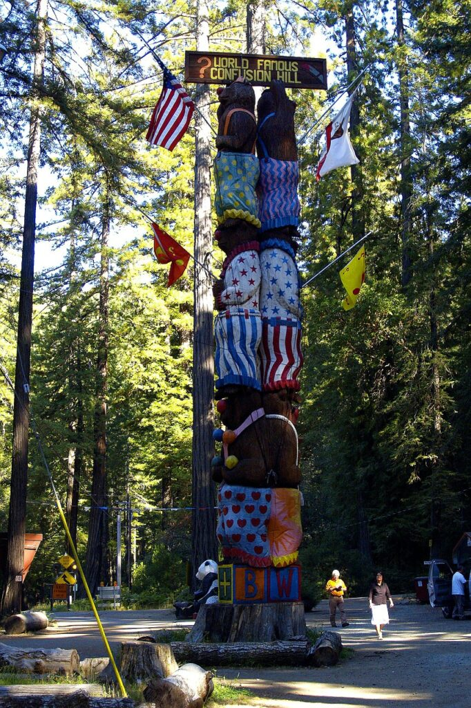 confusion hill, carving, touristic