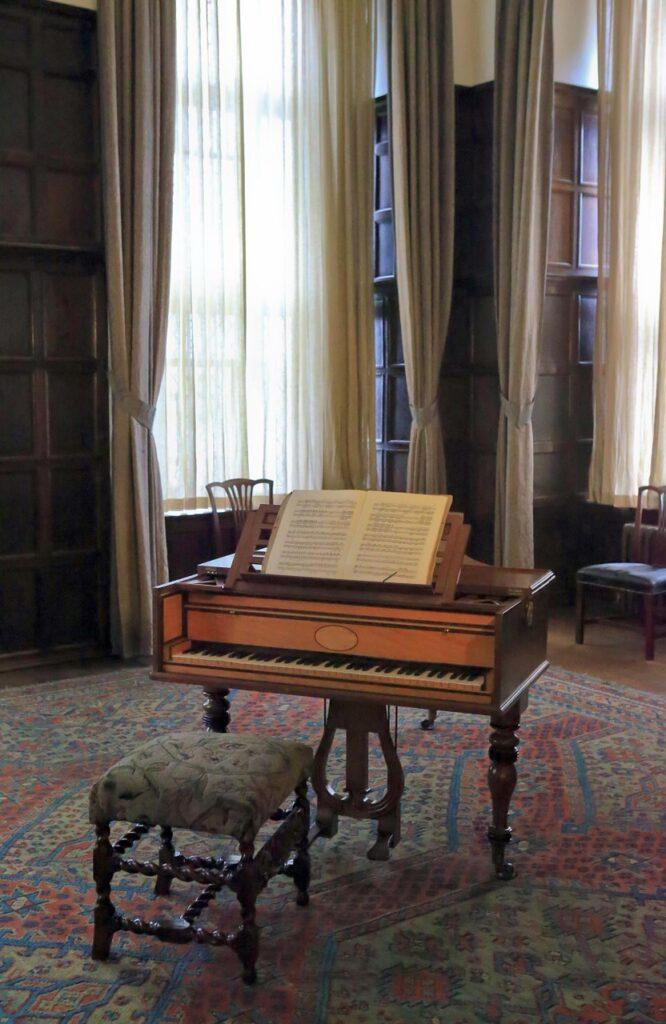 piano, old, vintage