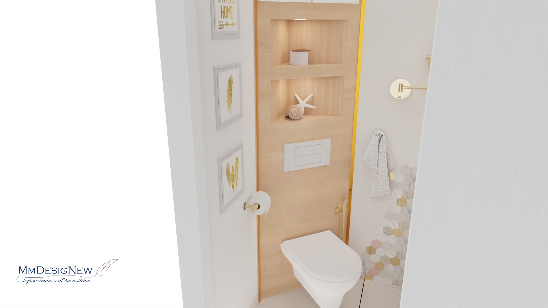 Narożna toaleta