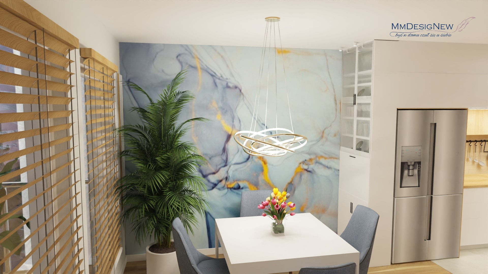 dining room, wall paper