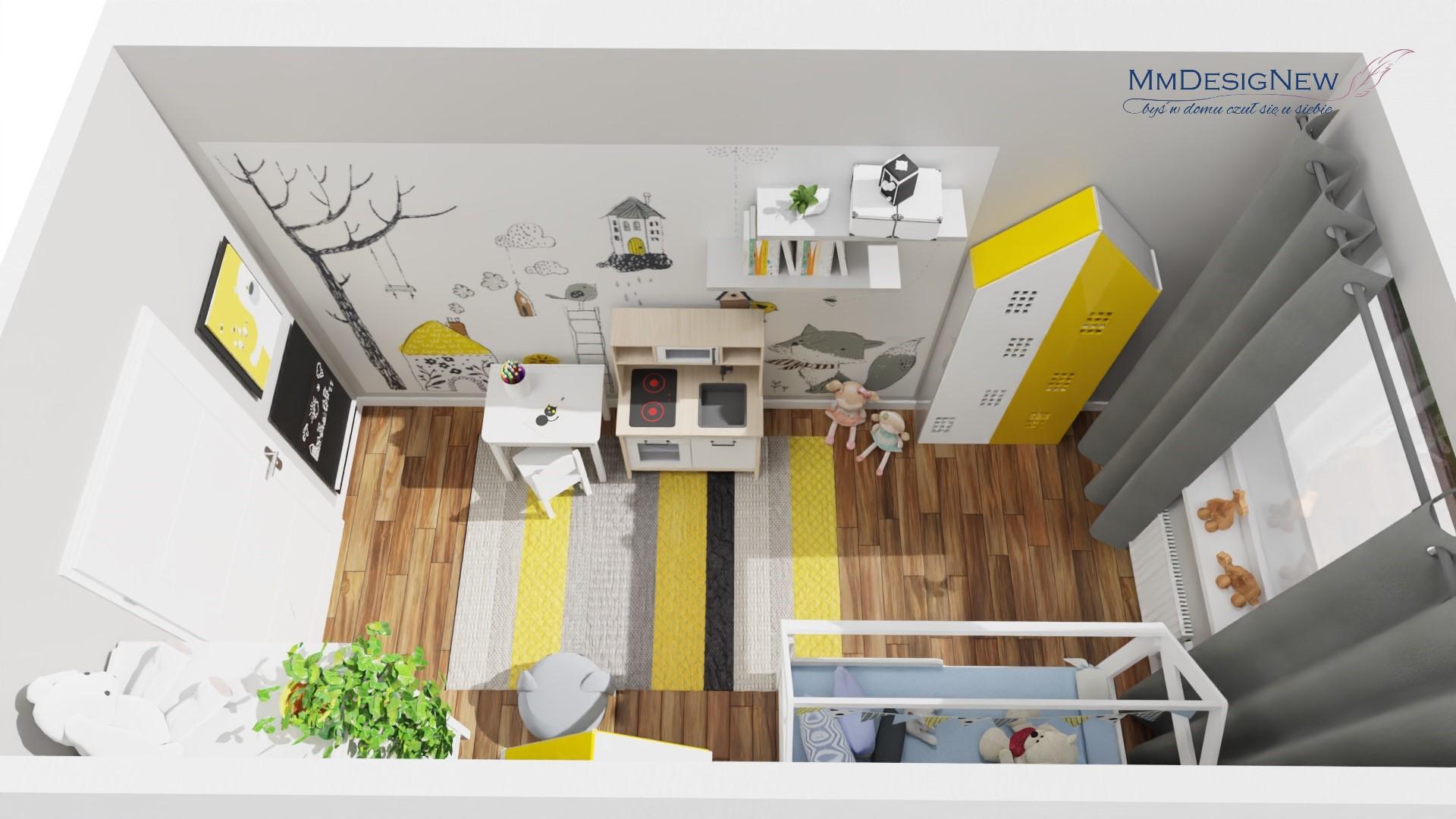 żółto-szary pokój