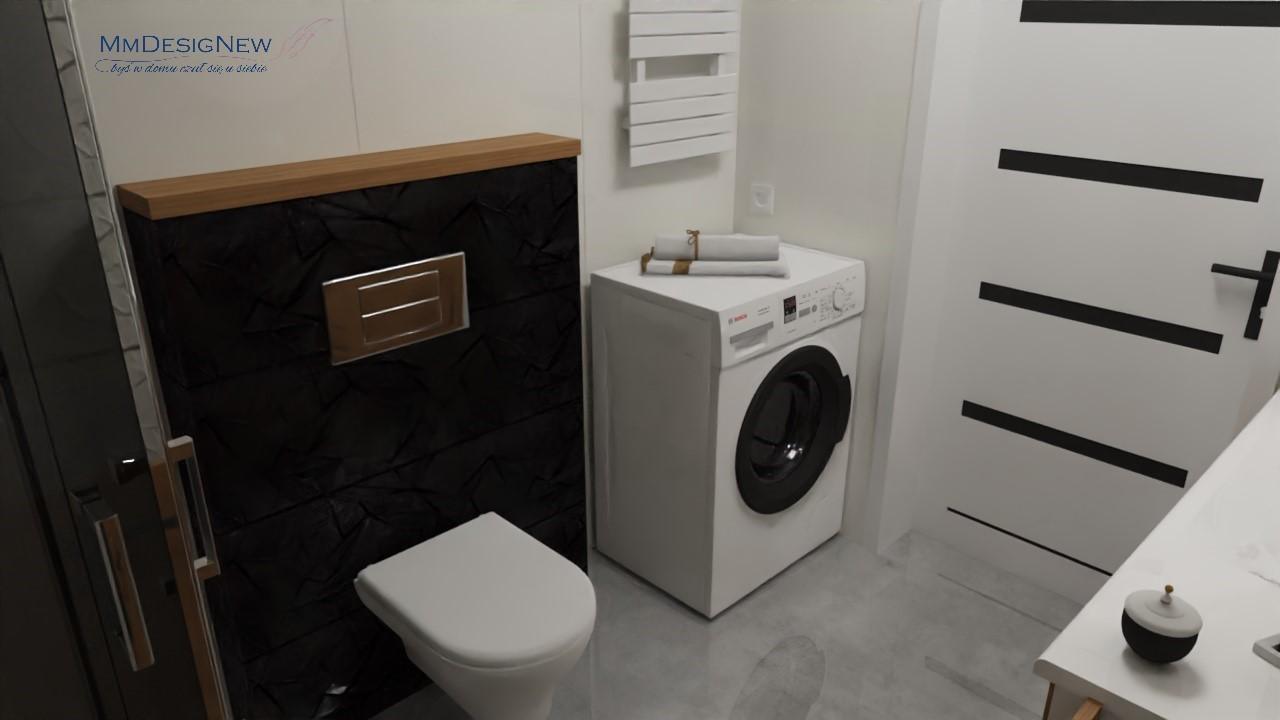Czarna toaleta