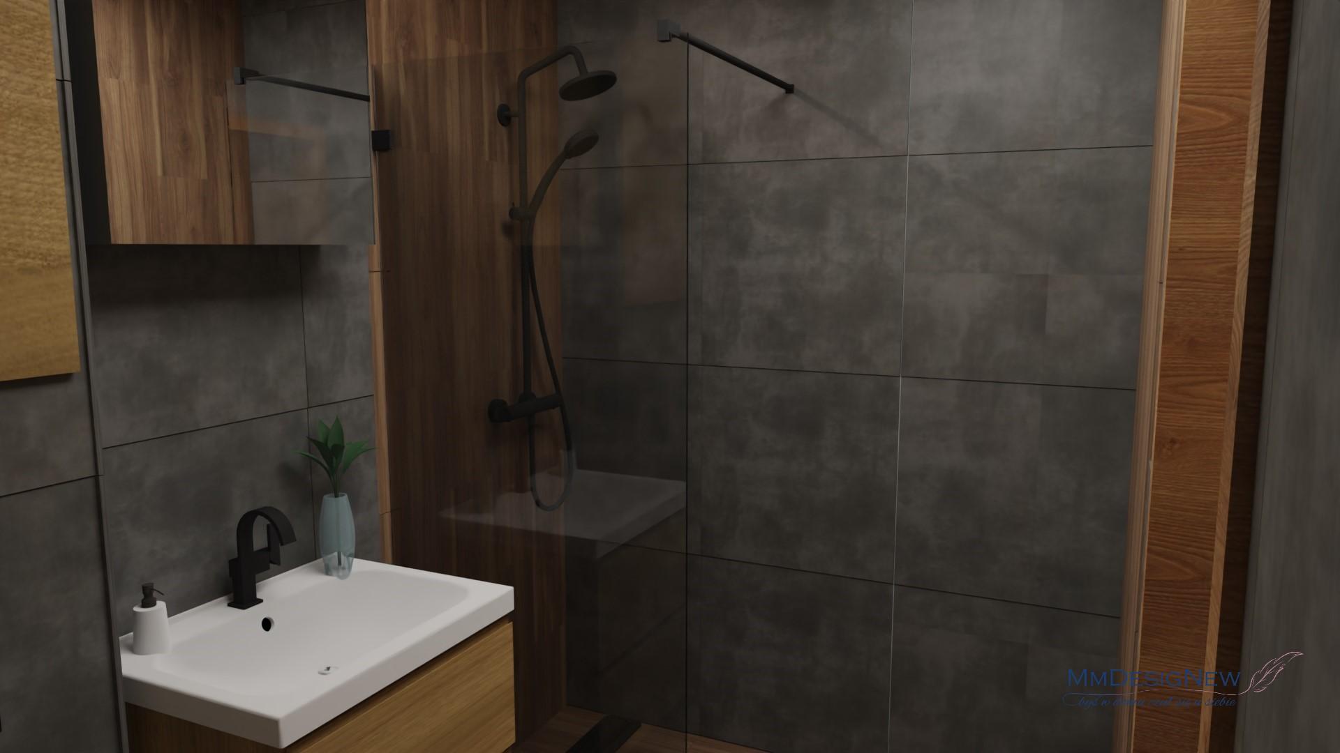Beton pod prysznicem