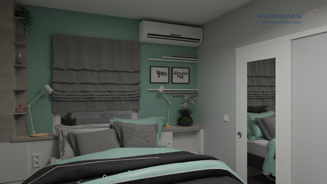 Sypialnia z klimatyzacją
