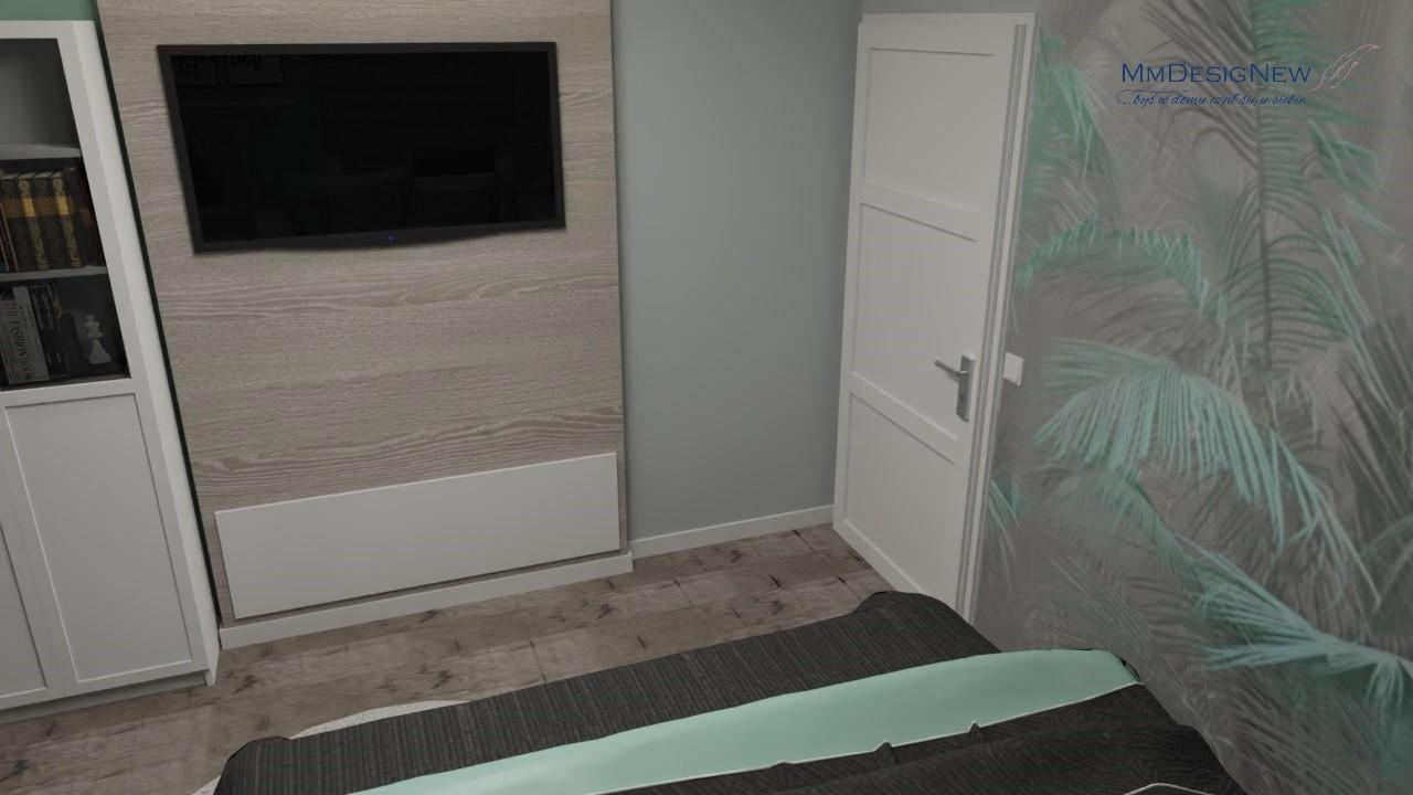 Białe drzwi w sypialni