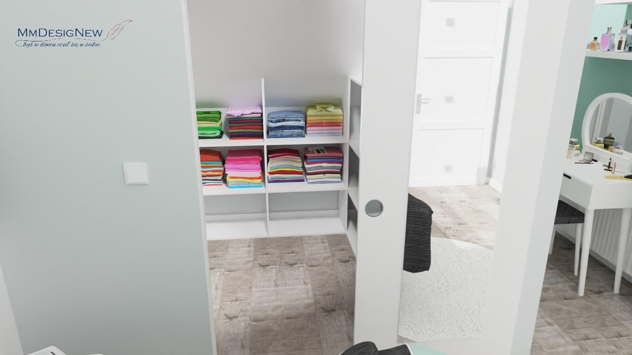 Wnętrze garderoby